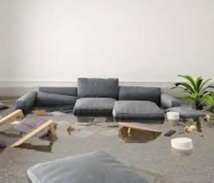 furniture in standing water